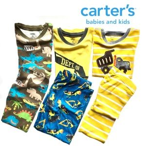 {three pair} Carter's jams; short sleeves/pant 4T
